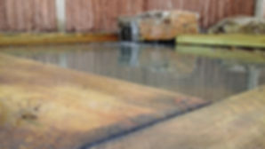 water features,sleepers, rocks, large stone water feature, luxury landscapes, landscape constrctors belmarsh construction
