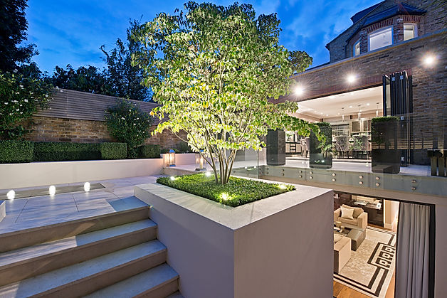 contemporary garden design, luxury gardens, landscaped gardens,landscaped garden and luxury house