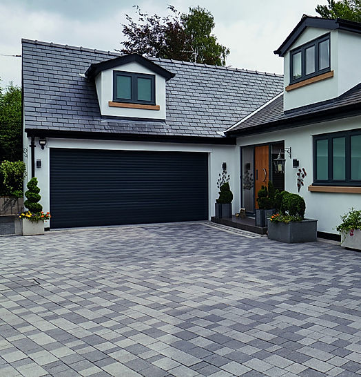 driveways, block paving, landscaped gardens,grey pavig, marshlls paving, belmarsh construction