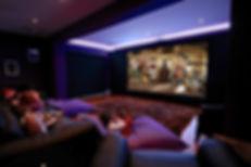 hom cinema,medi room, cinema, children watchinga film, super home home luxury,