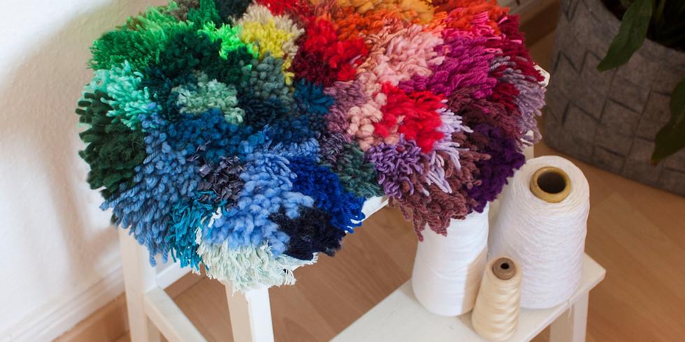 Fabrication d'un petit tapis décoratif en point noué