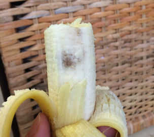 Can you eat a bruised banana?
