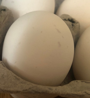 Grayish smudges or spots on your eggshell?
