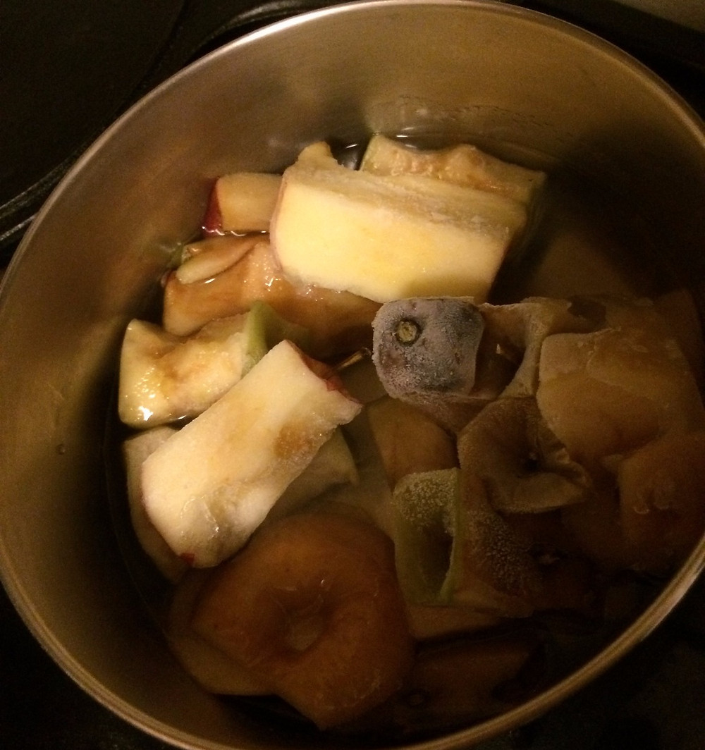 Keep apple cores in the freezer until you have enough to make a shrub!