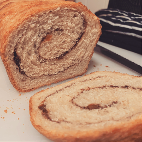 Cinnamon swirl bread from sourdough discard