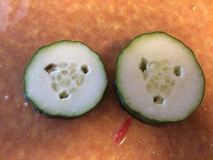 Cucumber with tidy, tiny holes