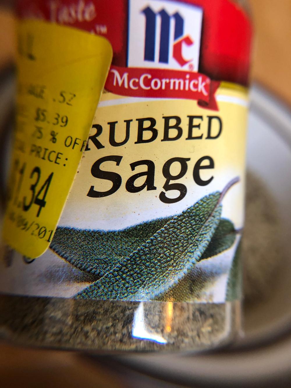 jar of rubbed sage