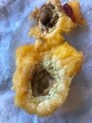 Is that mold in this split-pit peach?