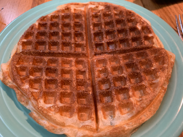 Waffles made with sourdough starter