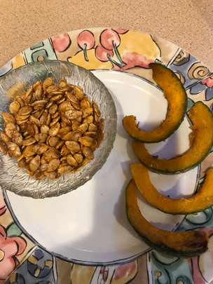 Squash seeds were made for roasting!
