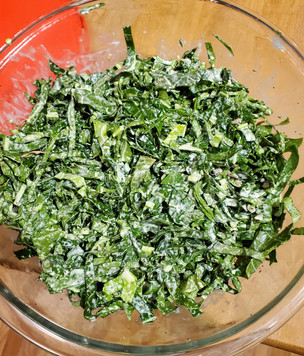 Cauliflower leaves are excellent salad greens