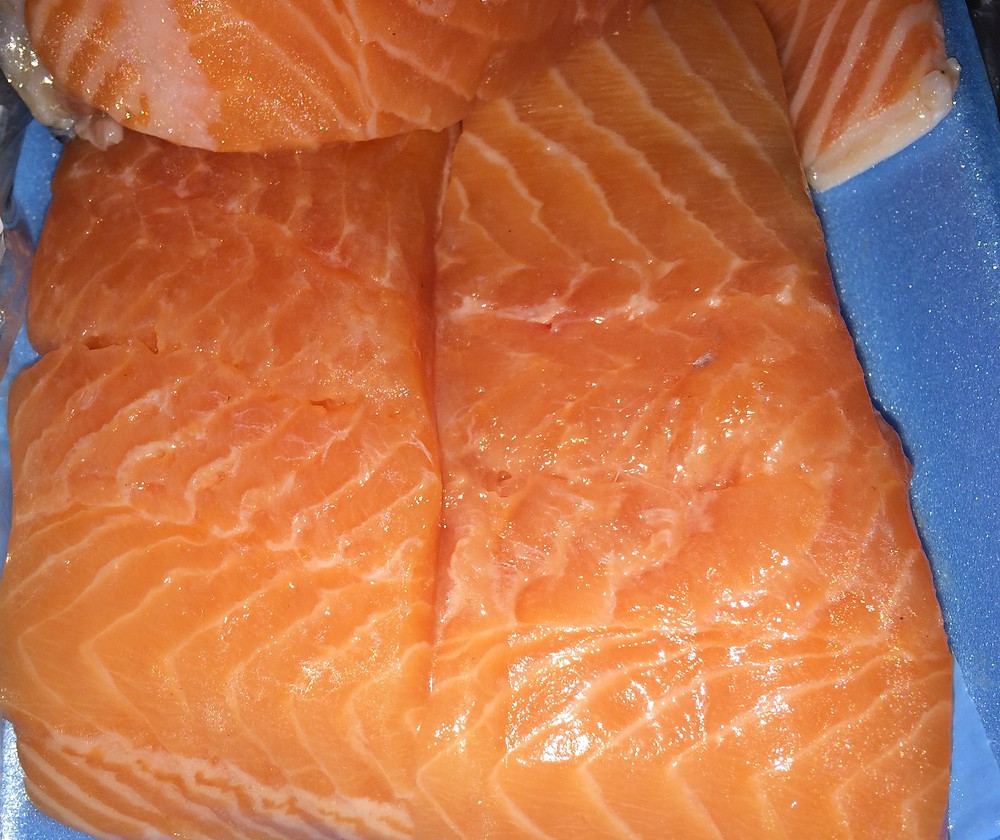When salmon looks a little mushy in the middle, it's still fine to eat