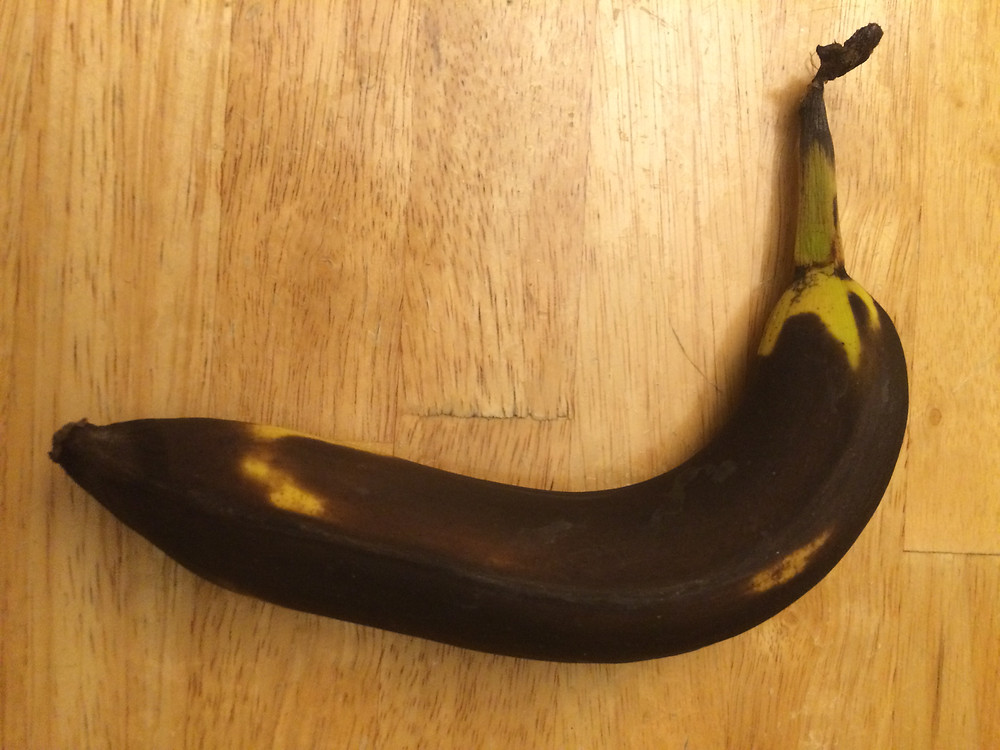 This rather brown banana is still good to eat!