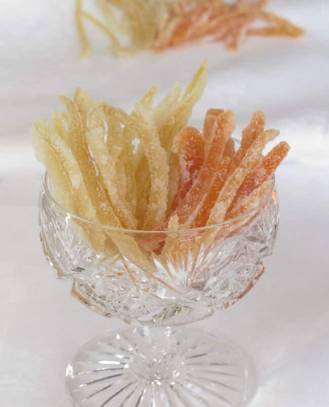 Candied grapefruit and lemon peel.