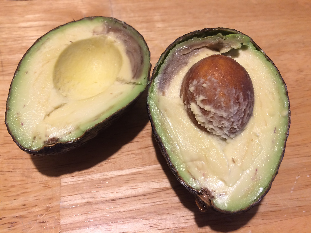 Avocado with brown inside