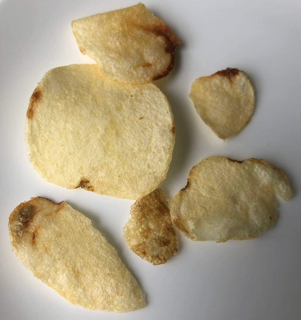 potato chips with brown spots