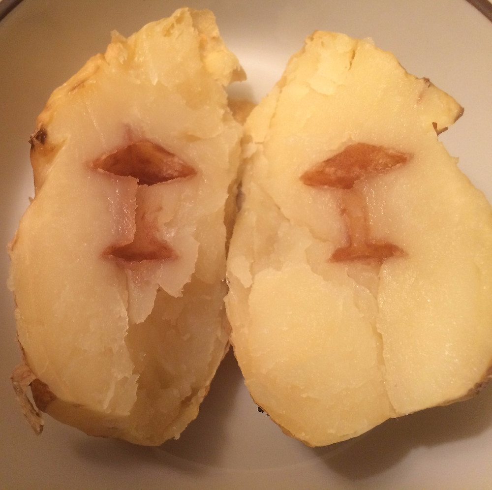 "The open space in this baked potato is harmless—just a condition called ""hollow heart."""