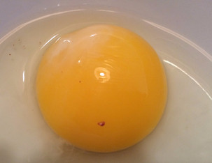 Is that blood in my egg?