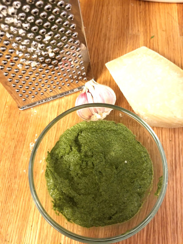 Carrot tops are perfect for pesto!