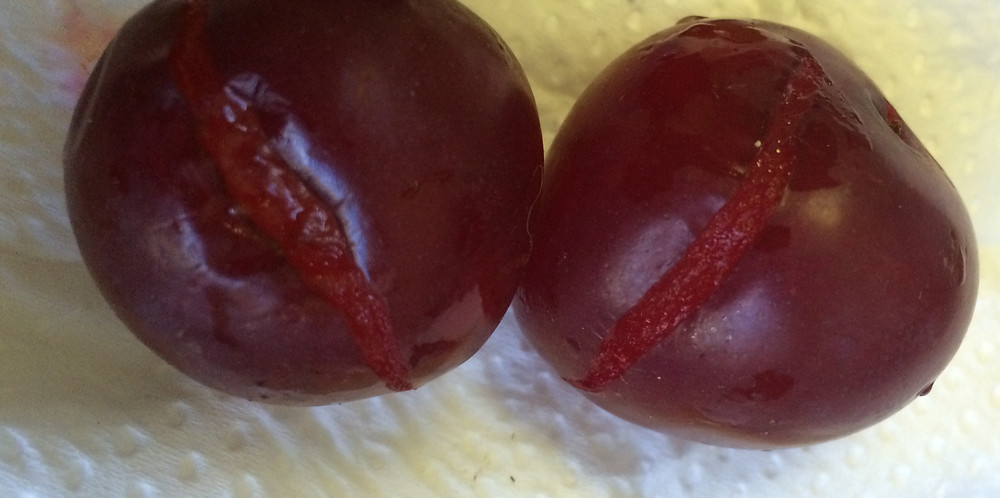 cracked plums