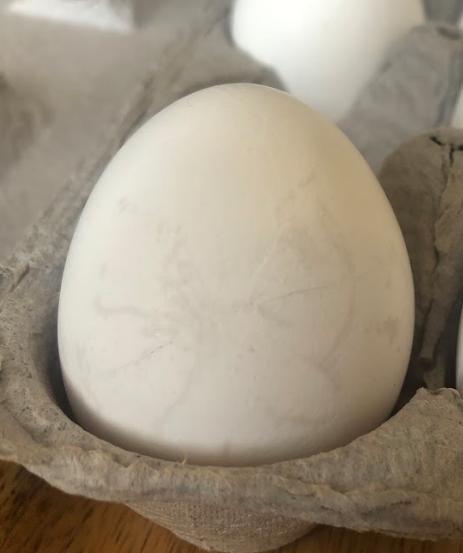 Hairline crack eggshell