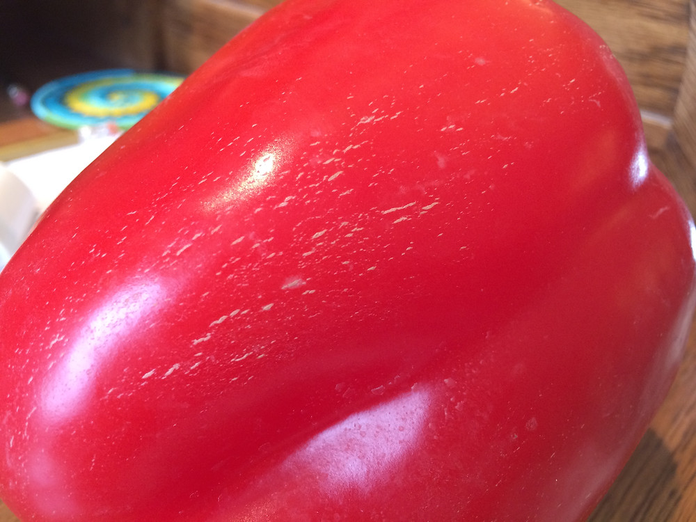 "Tiny scratches on a pepper are harmless and are called ""corking."""