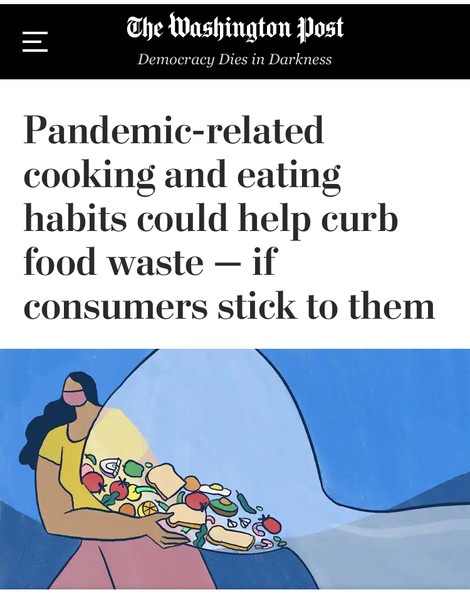 Could the pandemic lead to less food waste?