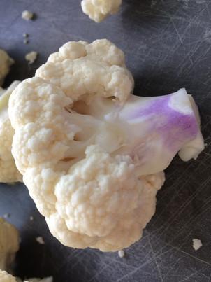 Purple splotches on your cauliflower?