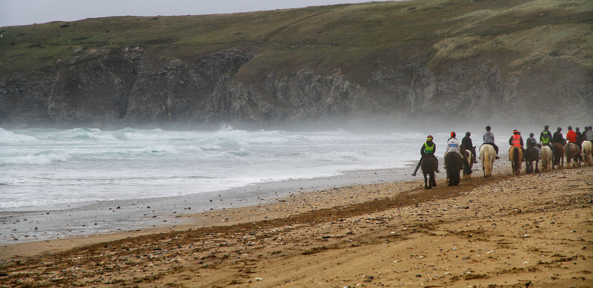 Riding on Perranporth Beach with Reen Manor Stables