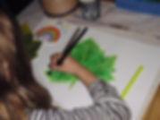 bladeren schilderen met ecoline