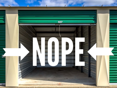 Is living in a Storage Facility illegal? Um...YEAH!