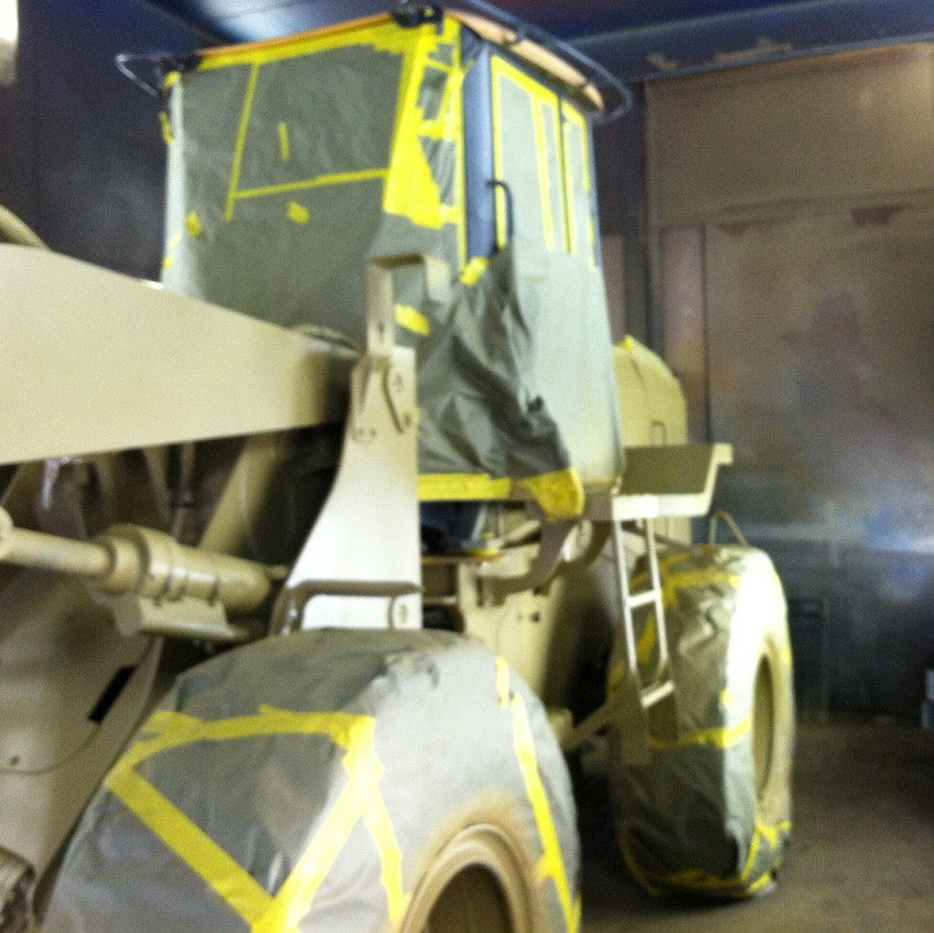 Laing Truck & Trailer will sandblast and paint your equipment.