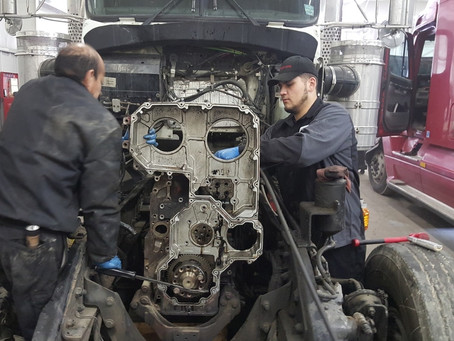 Truck transmission maintenance and repair