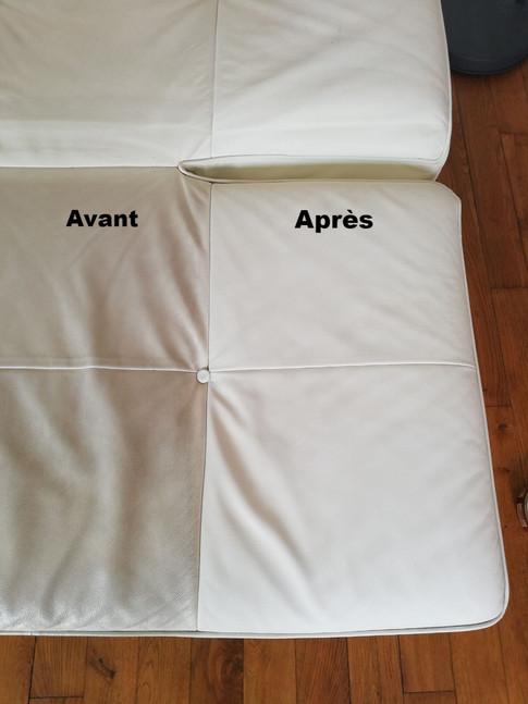 Pierre-Yves Ringuede Entretien Rénovation Patine Chaussures Maroquinerie Cuir cireur cirage Nantes La baule Vannes Rennes Rénovation canapé blanc cinna