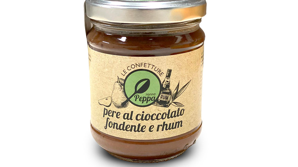 Confettura di Pere al Cioccolato Fondente e Rhum Nonna Peppa