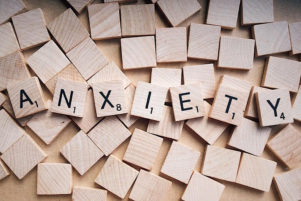 Anxiete, lettres scrabble