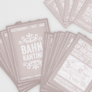Corporate Design – Restaurant Bahnkantine