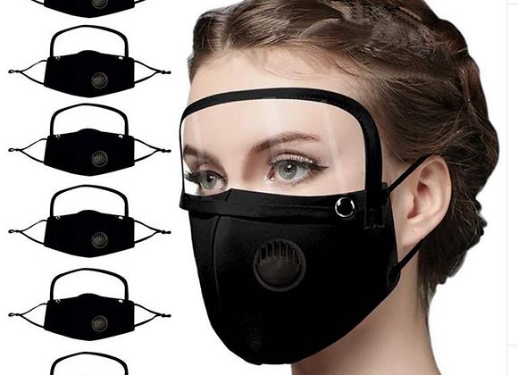Cotton Face Mask With Eye Shield, Anti- fog PET Mask, Adults/Kids Washable