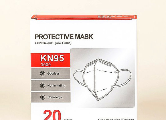 20 PACK - KN95 FACE MASKS - 5 LAYER - INDIVIDUALLY WRAPPED
