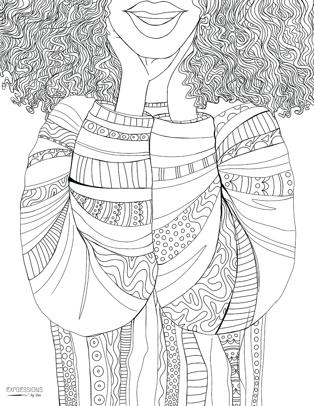 """""""Sweat Her"""" Coloring Page"""