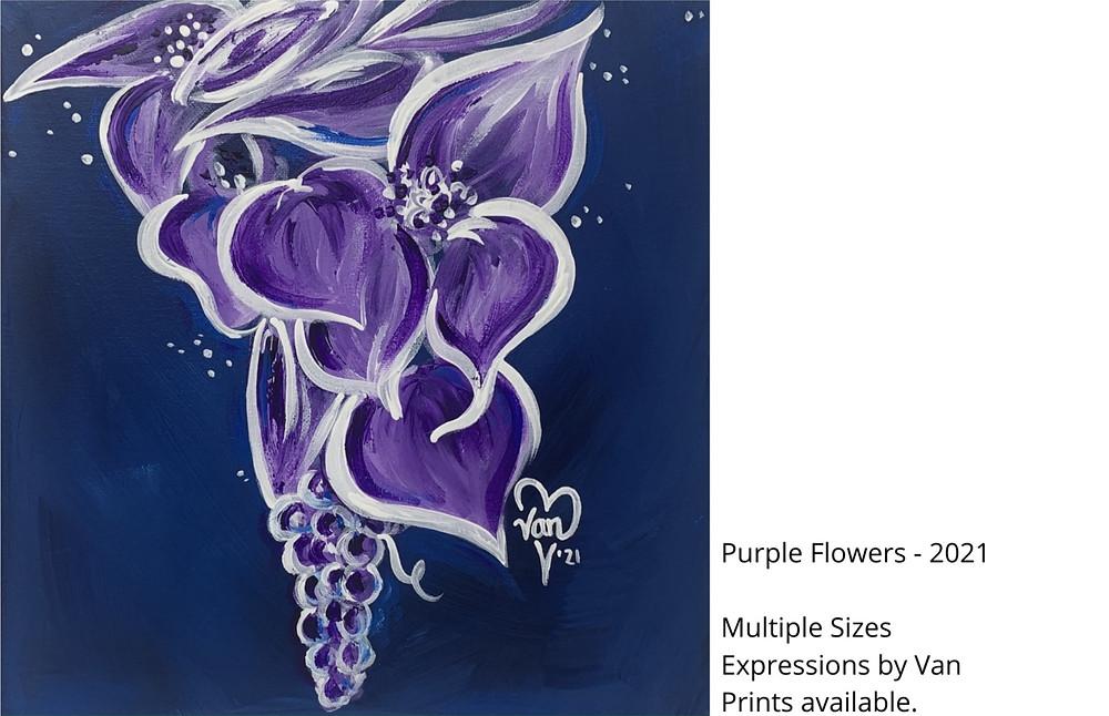 Purple Floral Painting