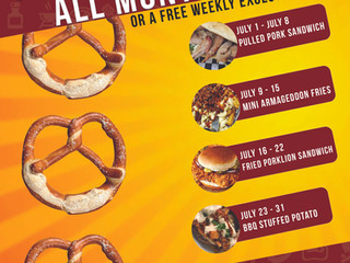 Free Food All Month Long in  July!!
