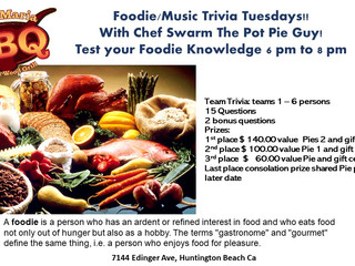 Test your foodie Knowledge and win prices. try amazing bbq and a side selction of craft beer