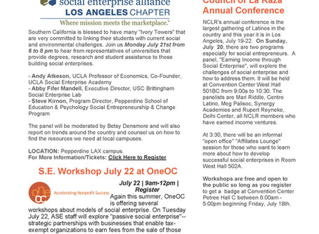 ASE Leads Social Enterprise Discussions at NCLR Annual Meeting