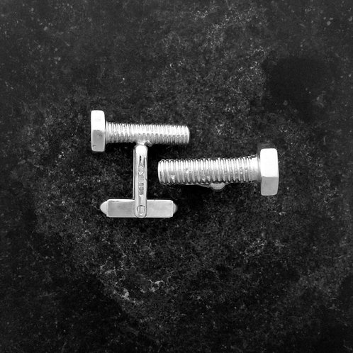Sterling Silver Bolt Cuff links.