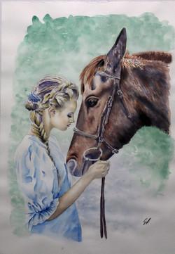 lady & horse