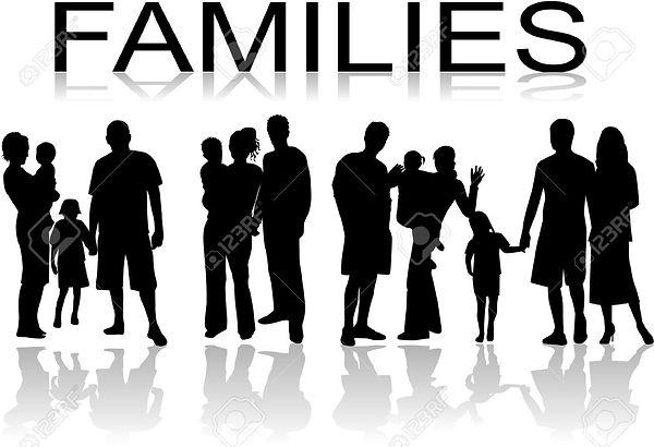 families-black-people-silhouette-vectors