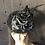 Thumbnail: Black fur felt Scottie with dot netting