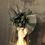 Thumbnail: Black crinoline fan Fascinator