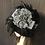 Thumbnail: Black fur felt Louise with grosgrain stripe